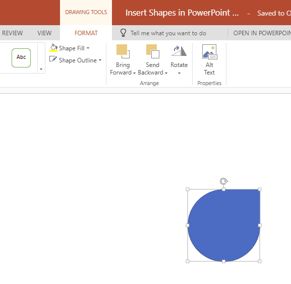 Insert Shapes in PowerPoint Online