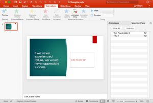 Task Pane in PowerPoint 2016 for Mac