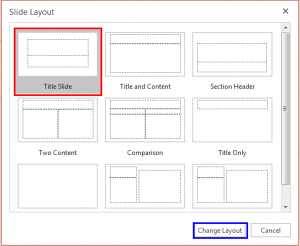 Change Slide Layout in PowerPoint Online