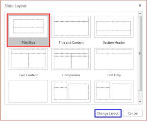 Change Slide Layout in PowerPoint Online
