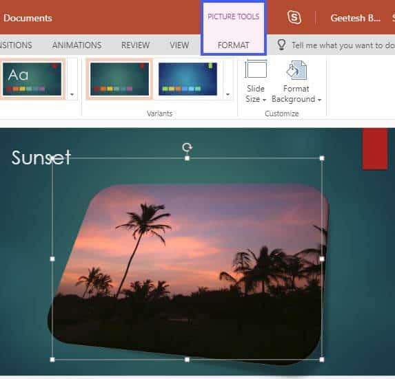 Reset Pictures in PowerPoint Online