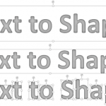Convert Text to Shapes by Fragmenting in PowerPoint 2016 for Mac