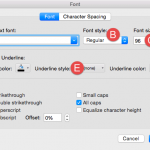 Font Dialog Box in PowerPoint 2016 for Mac