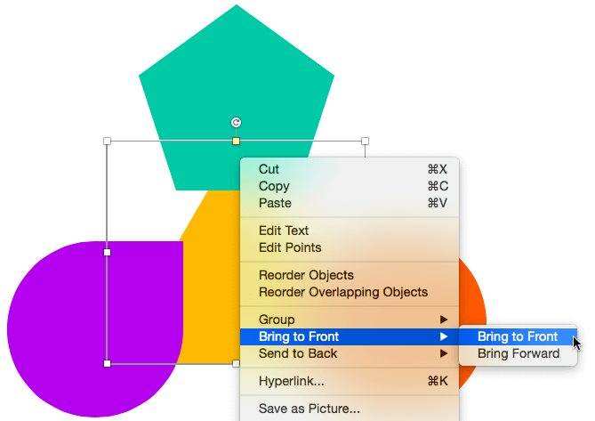 Reorder Shapes in PowerPoint 2016 for Mac