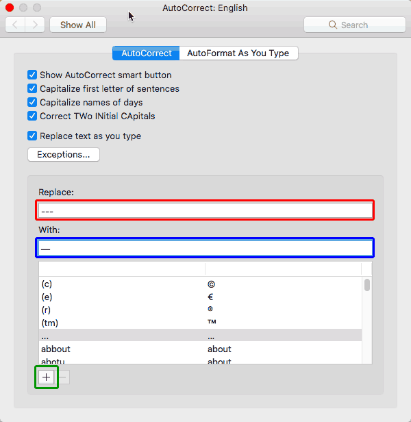 Add an Em Dash in PowerPoint for Mac