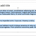 Selecting Text in PowerPoint 2016 for Mac