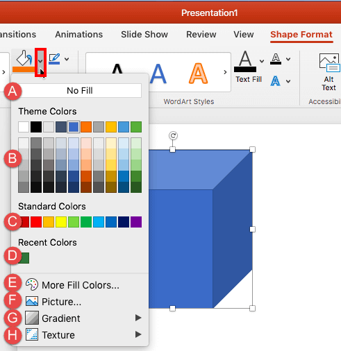 Add Solid Fills to Shapes in PowerPoint 2016 for Mac