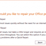 Repair Office and PowerPoint 2016 for Windows