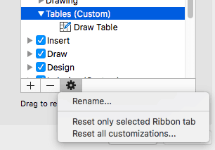 Reset, Export, and Import Ribbon Customizations in PowerPoint 2016 for Mac