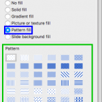 Add Pattern Fills to Shapes in PowerPoint 2016 for Mac