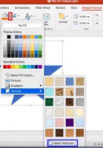 Add Texture Fills to Shapes in PowerPoint 2016 for Mac