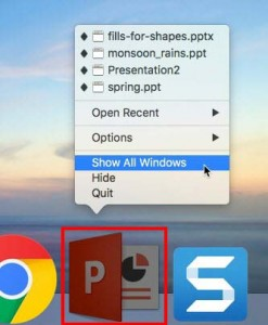 Switch Views Between Multiple Presentations in PowerPoint 2016 for Mac