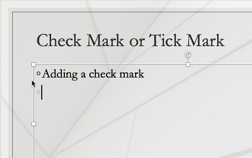 Insert a Check Mark or Tick Mark in PowerPoint for Mac