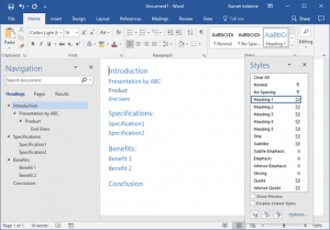 Creating PowerPoint Outlines in Microsoft Word 365 for Windows