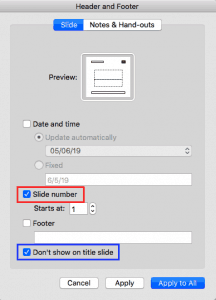 Working With Slide Numbers in PowerPoint 2016 for Mac