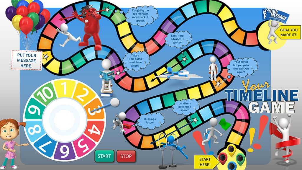 Timeline Game from PresenterMedia
