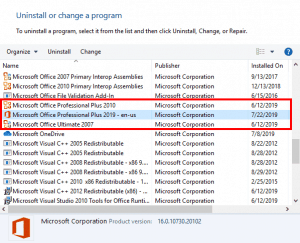 Locate Your Version in PowerPoint 2019 for Windows