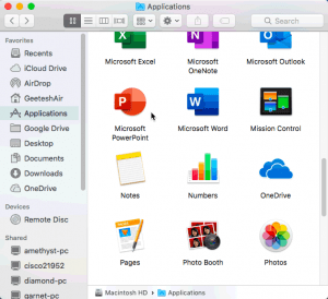 Locate Your Version in PowerPoint 365 for Mac