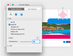 Format Task Panes in PowerPoint 365 for Mac