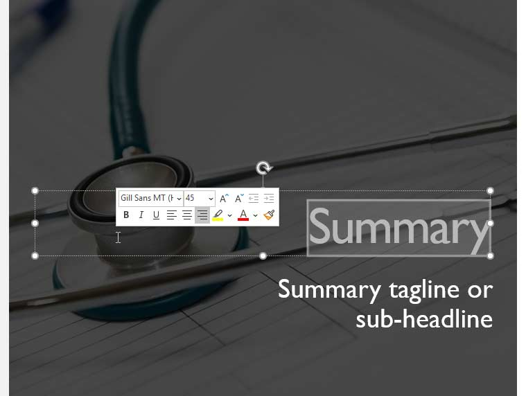Mini Toolbar in PowerPoint 365 for Windows