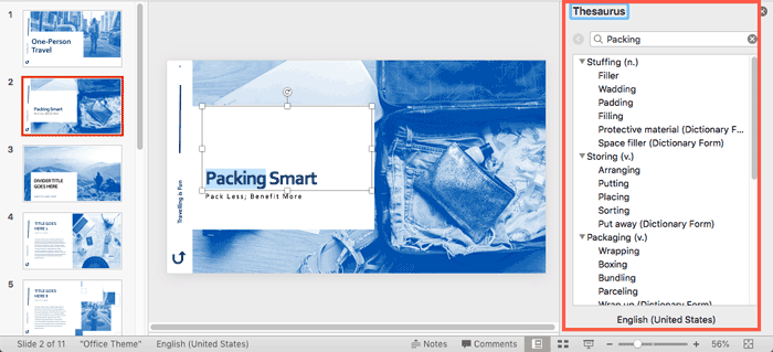Task Pane in PowerPoint 365 for Mac