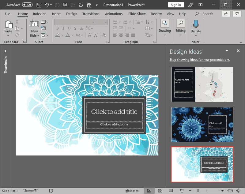 PowerPoint Designer in PowerPoint 365 for Windows