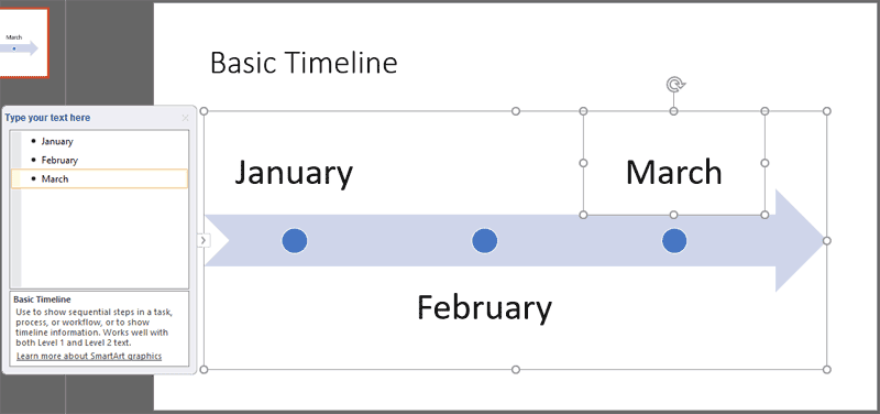 Creating Timelines Using SmartArt in PowerPoint 365 for Windows