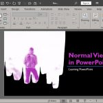 Normal View (Editing View) in PowerPoint 365 for Windows
