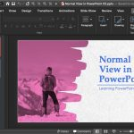 Normal View (Editing View) in PowerPoint 365 for Mac