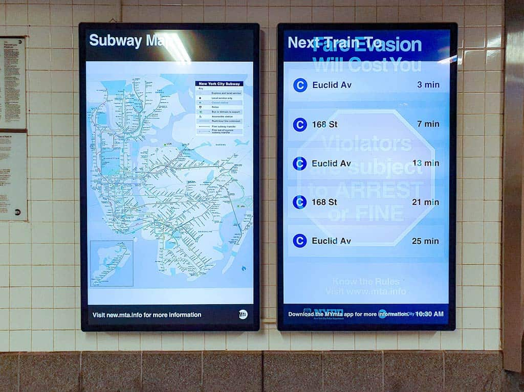 Example of Digital Signage information screen