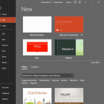 File Menu and Backstage View in PowerPoint 365 for Windows