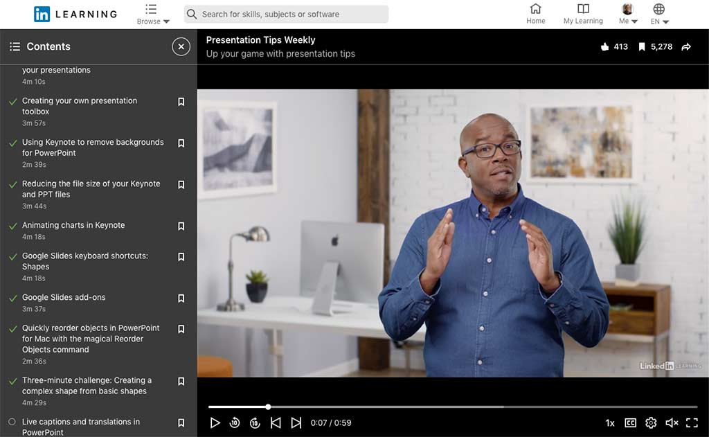 LinkedIn Learning Presentation Tips