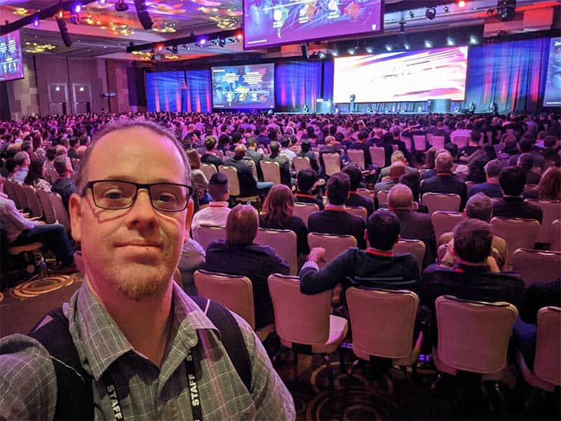 Mark Heaps at a conference