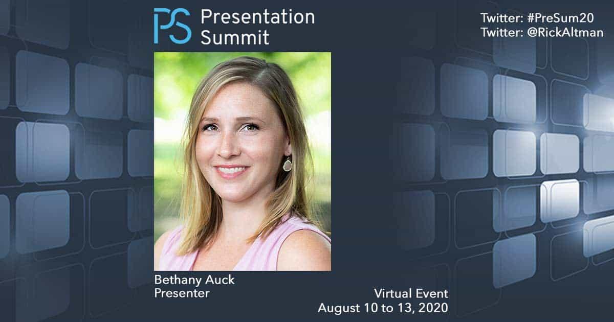 Presentation Summit Bethany Auck 2020