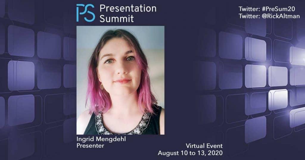 Presentation Summit Ingrid Mengdehl 2020