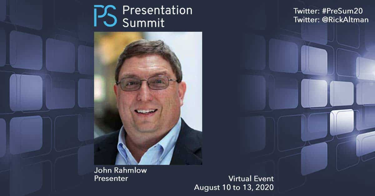 Presentation Summit John Rahmlow 2020