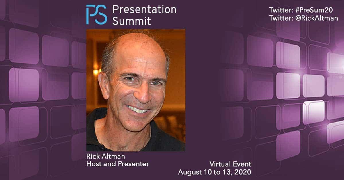 Presentation Summit Rick Altman 2020
