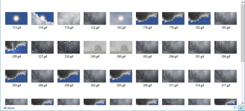 DataPoint Weather in PowerPoint Full HD weather icon set