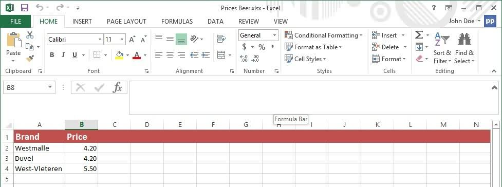 Excel data for dynamic text boxes in PowerPoint