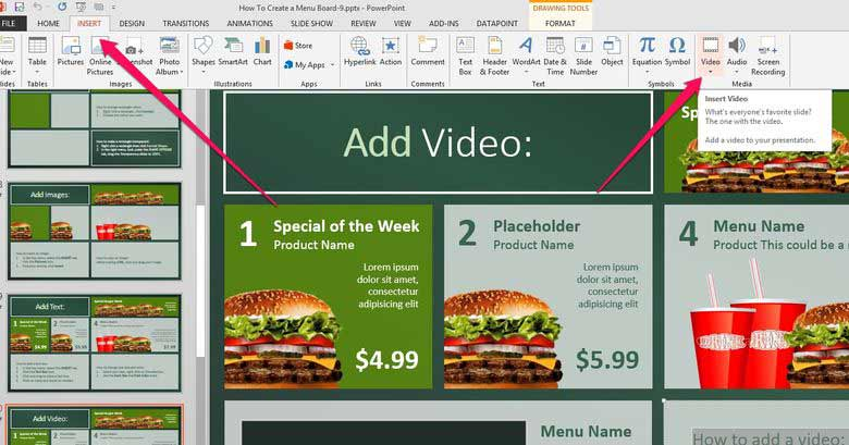 How to Add Video to Digital Menu Boards