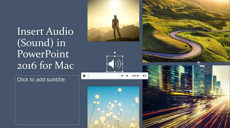 Insert Audio (Sound) in PowerPoint 2016 for Mac