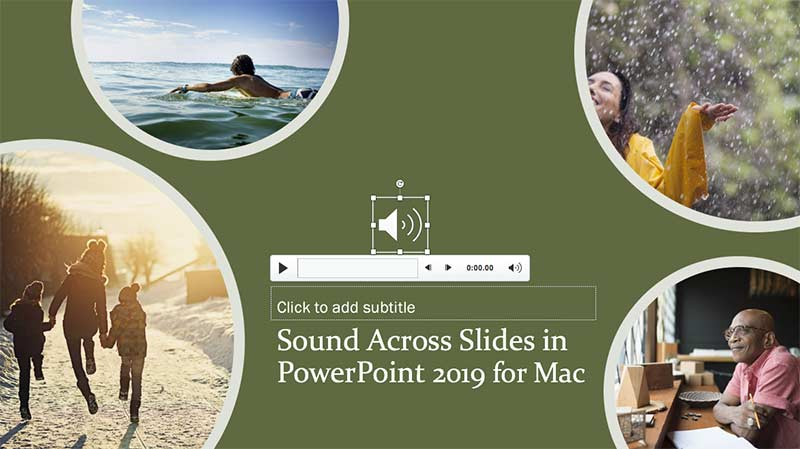 Sound Across Slides in PowerPoint 2019 for Mac