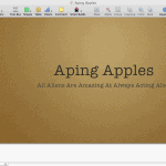 The Apple Keynote Interface