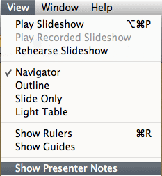 Show Presenter Notes