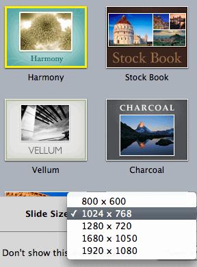 Slide Size in Keynote