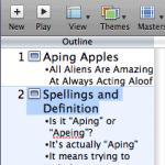 Slide Navigator or Outline in Apple Keynote