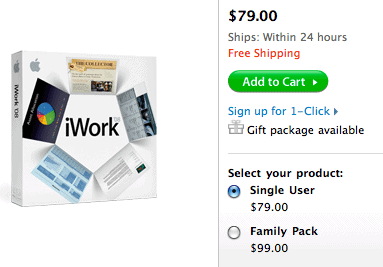 iWork Purchase Options