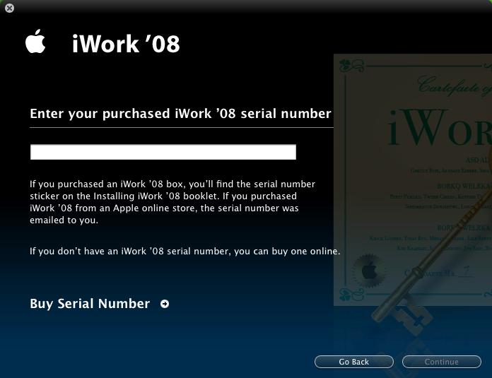 iWork Serial