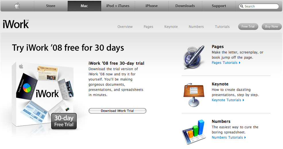 iWork Trial Download