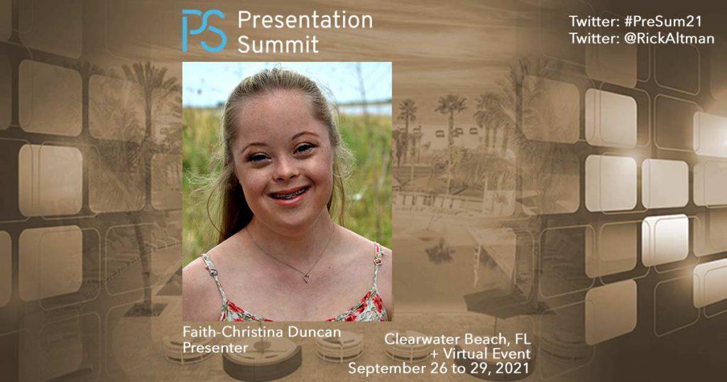 Presentation Summit 2021: Conversation with Faith-Christina Duncan
